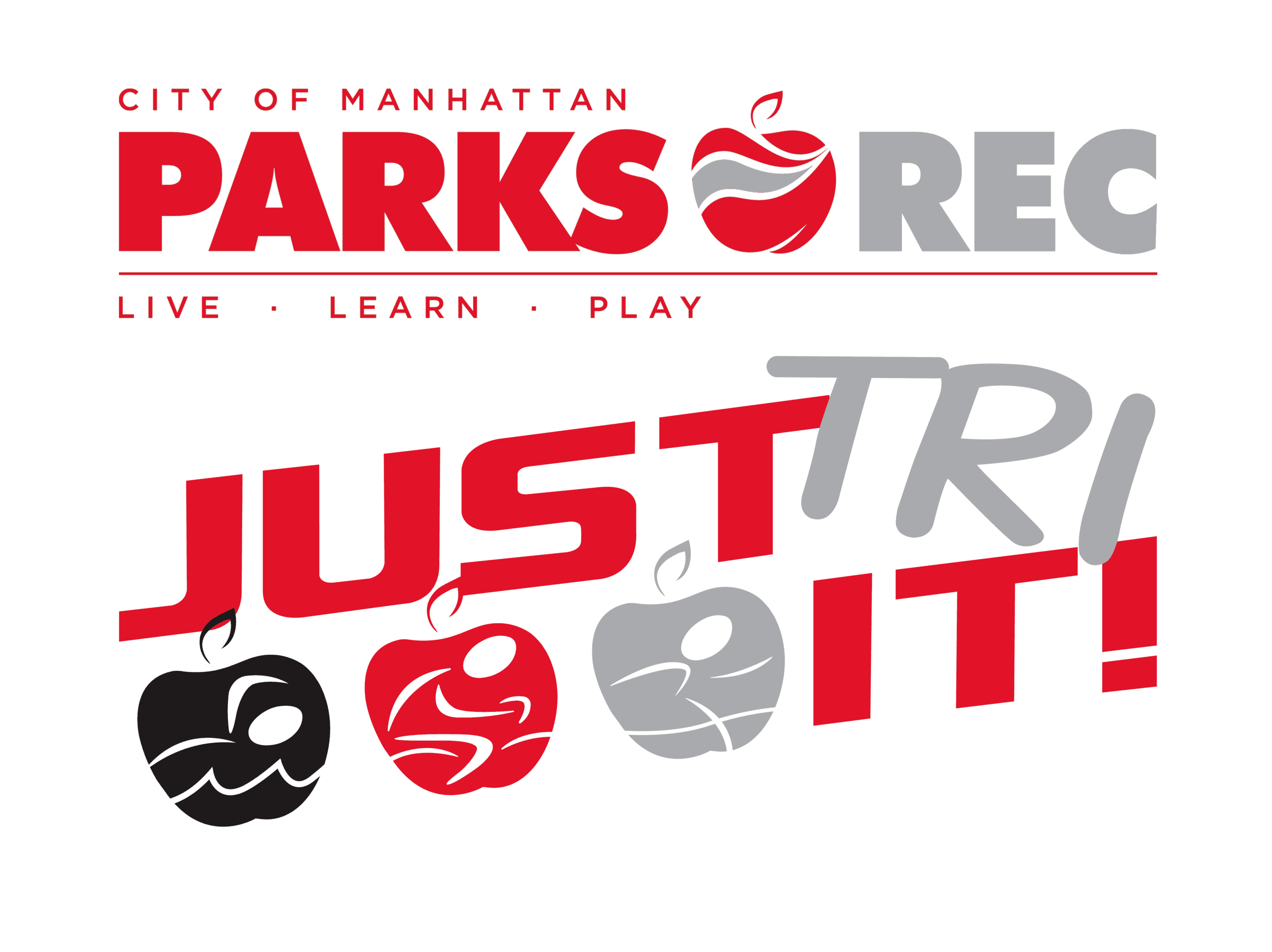 Parks and Rec and Just Tri It Logo