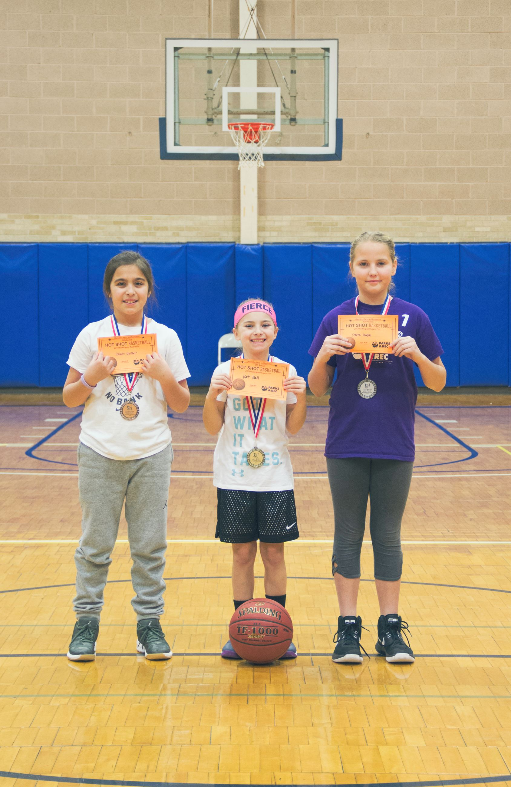 Hot Shot winners Girls 3rd-6th