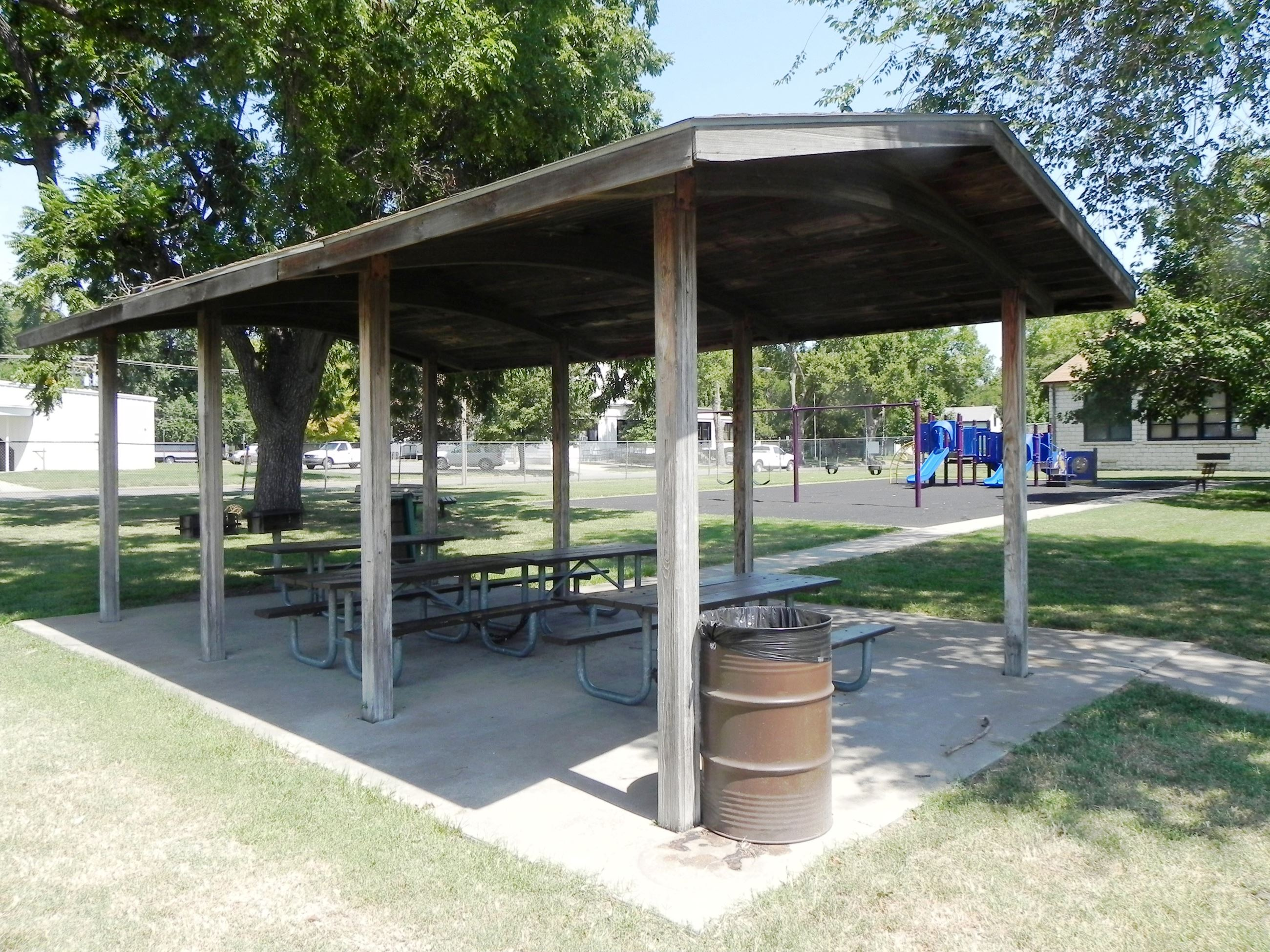 A shelter in Douglass Park