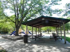 A shelter in Goodnow Park