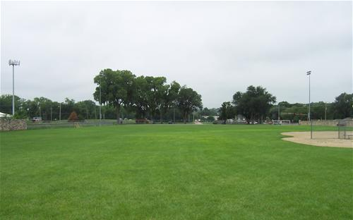 The baseball field in Griffith Park