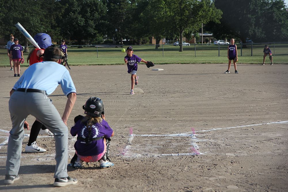 photo of children playing softball