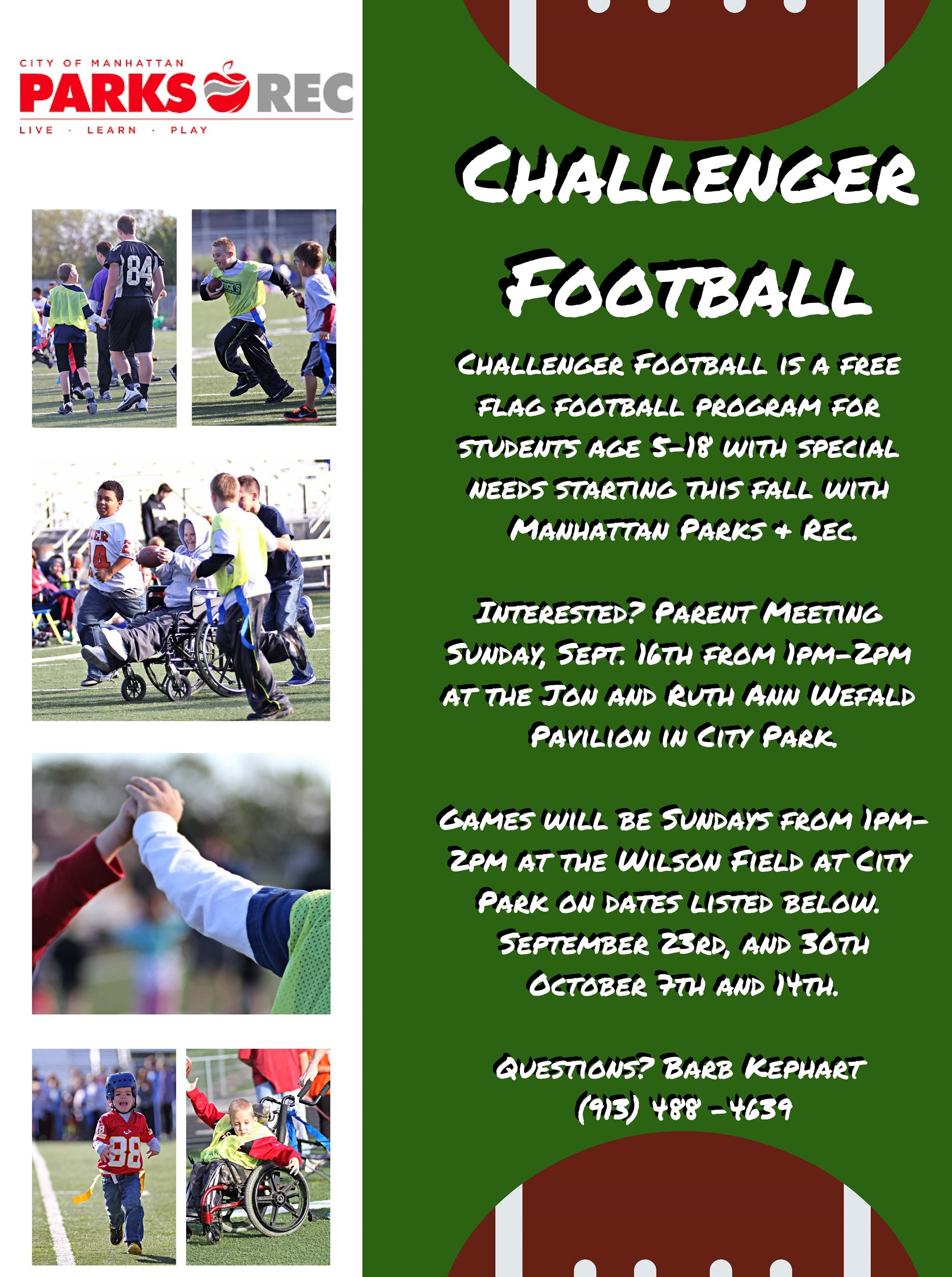 Challenger Football Flyer