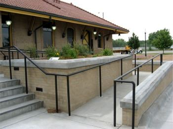 Exterior Ramp of the Depot
