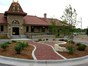 Garden and Walking Path at the Depot