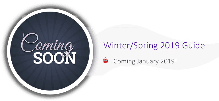 Winter/Spring Guide Coming Soon
