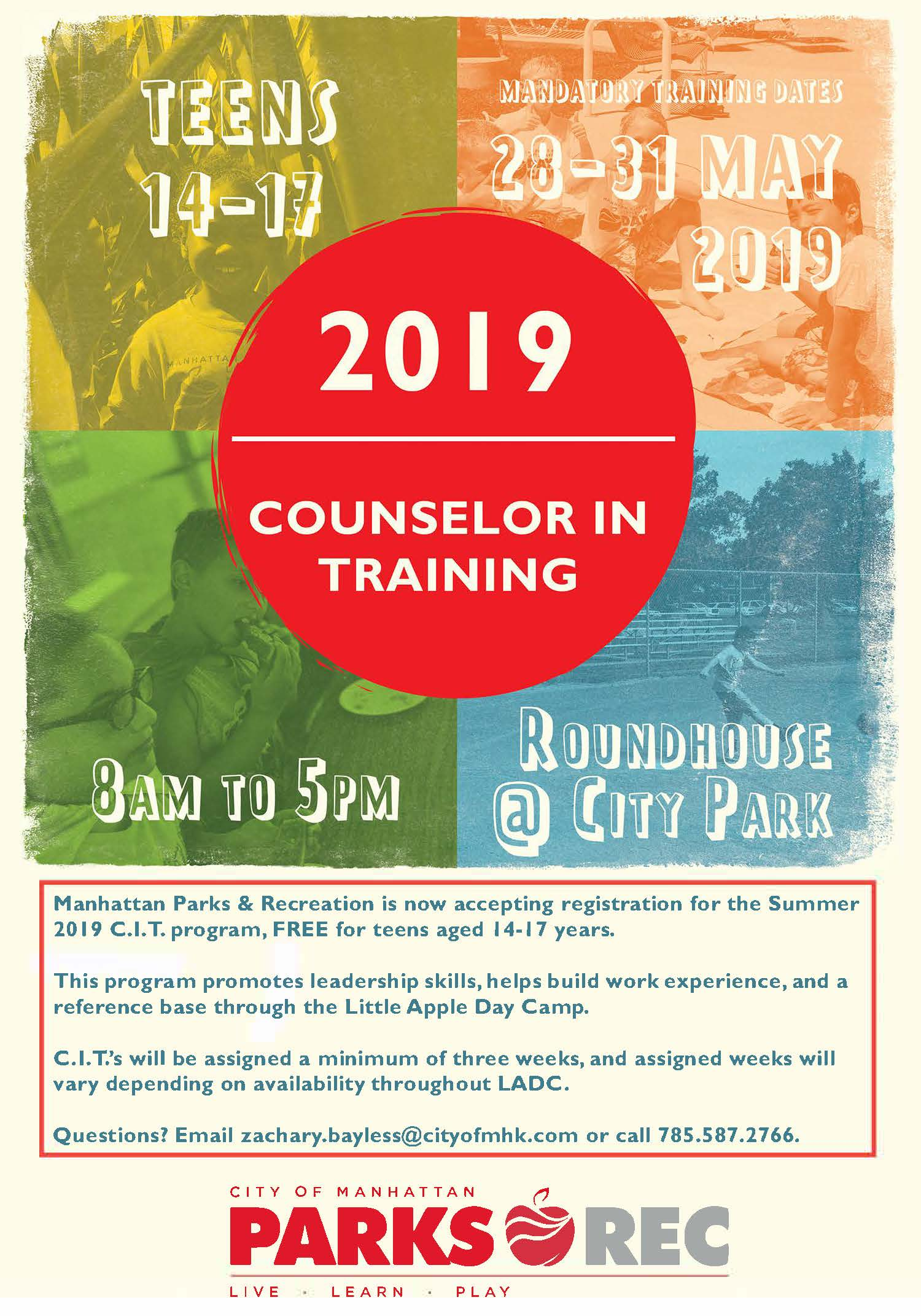 Counselor in Training Program Flyer