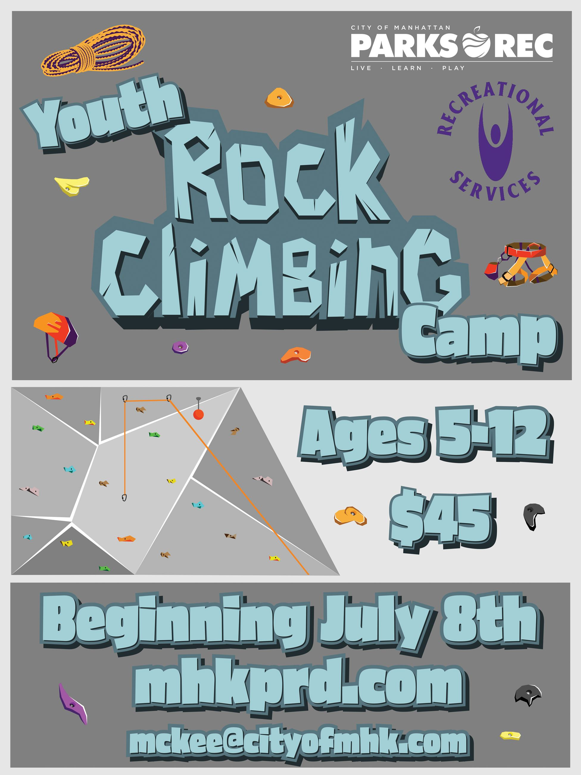 Rock Climbing Camp Flyer
