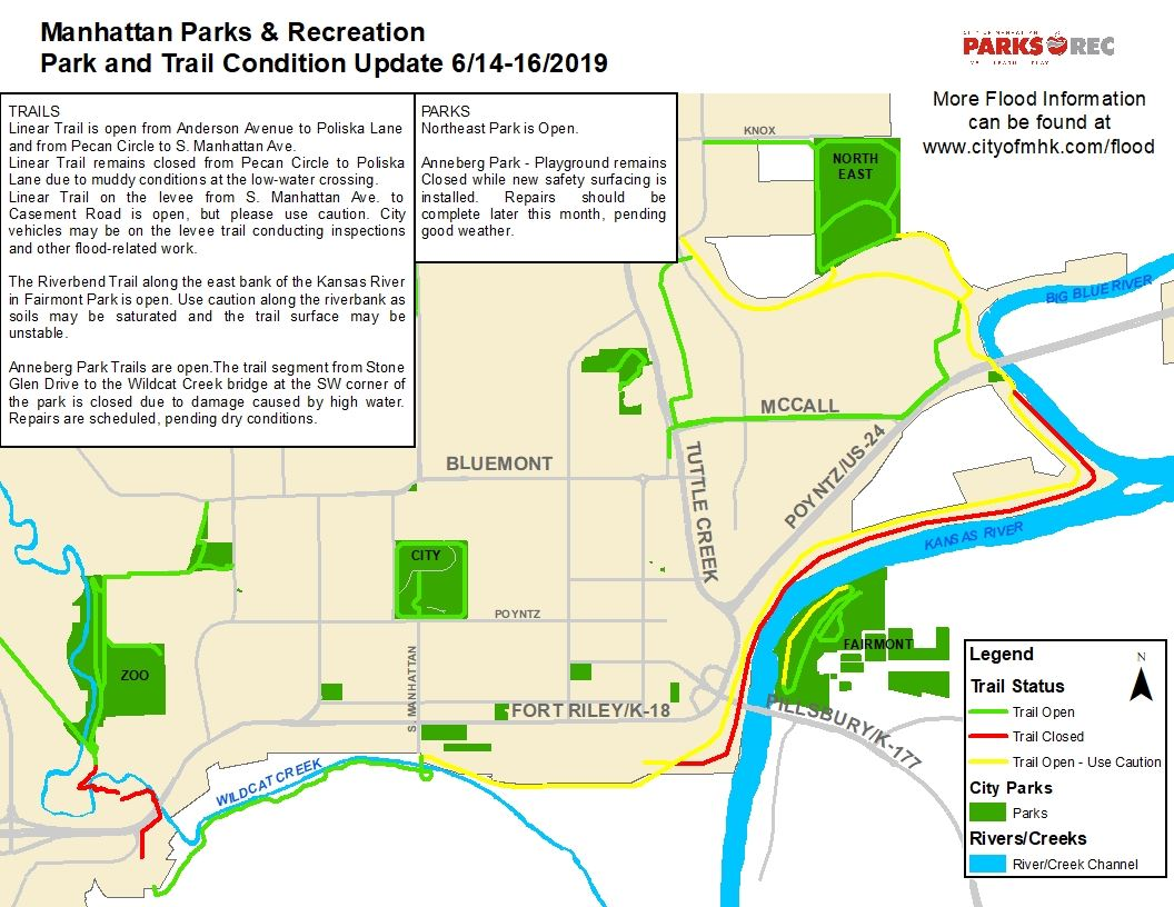 2019 Trail Flood Map 6/14-16/19