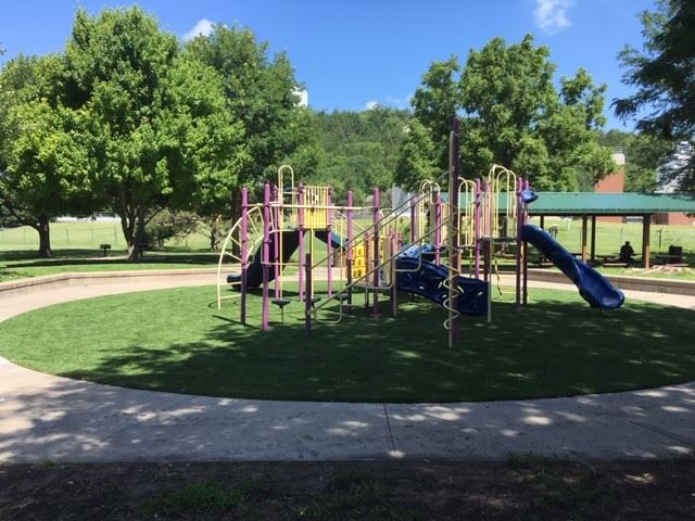 Goodnow playground with new surface