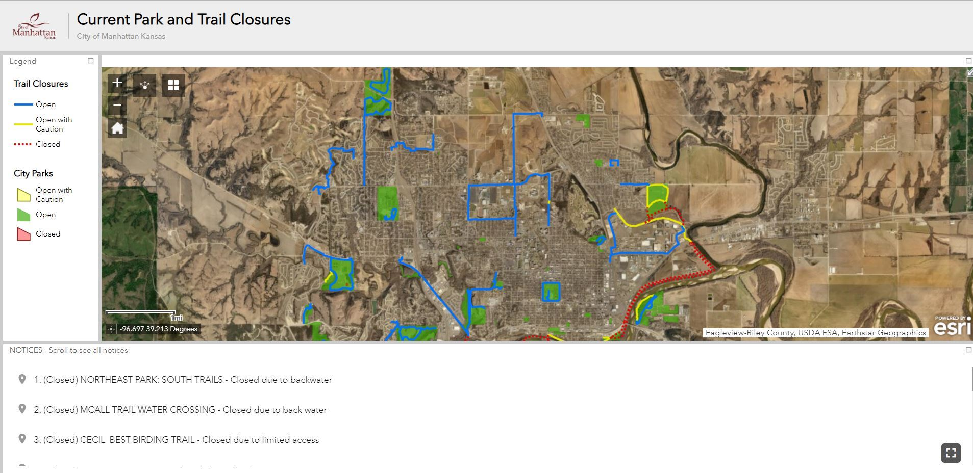 Screenshot of Active Trail Map