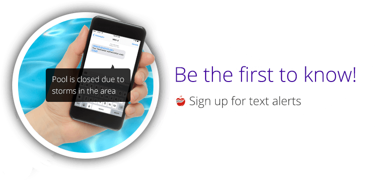 Be the first to know! - Sign up for text alerts